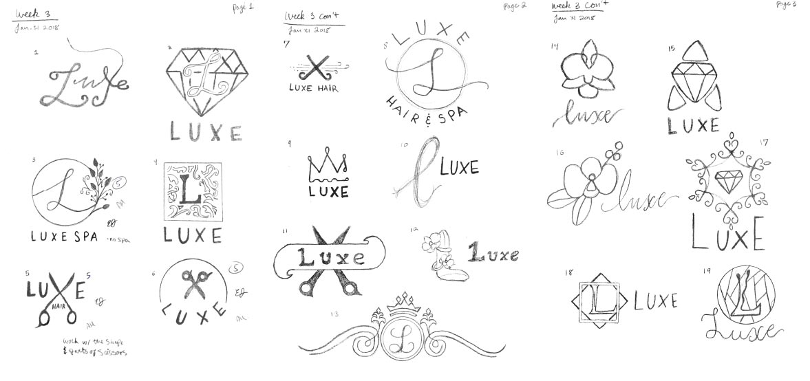 Logo sketches